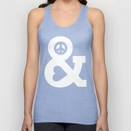 Peace and Love (pink edition) Unisex Tank Top