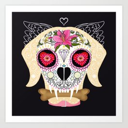 Day of the Dead Pet Art Print
