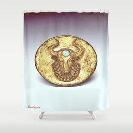 Third Eye Turquoise bull  Shower Curtain