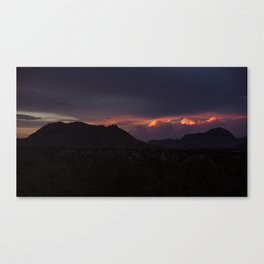 Vibrant Sunset over the Mountains in Terlingua, Big Bend - Landscape Photography Canvas Print