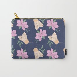 Cute Moth with Cherry Blossom Carry-All Pouch