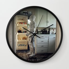 In The Cold I'm Standing Wall Clock