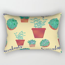 Succulent Pattern Rectangular Pillow
