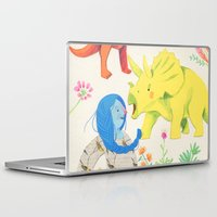 dinosaurs Laptop & iPad Skins featuring Dinosaurs by Maria Garcia