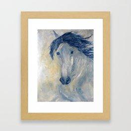 Gold spanish horse study  Framed Art Print