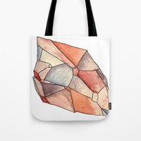 crystal Tote Bags featuring Crystal  by Matt Smith