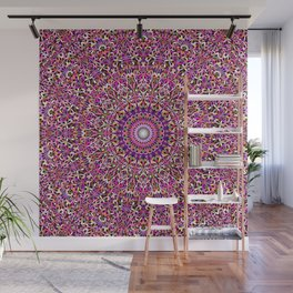 Colorful Girly Lace Garden Mandala Wall Mural