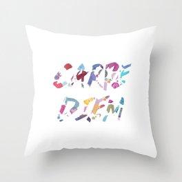 Carpe Diem Color Ink Throw Pillow