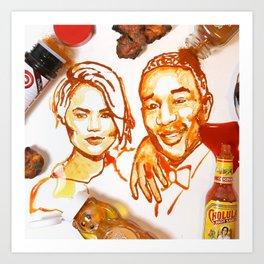 Chrissy & John Art Print