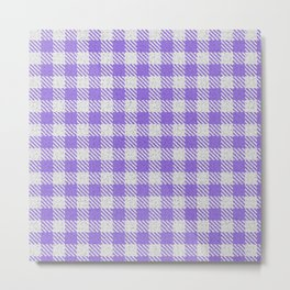 Medium Purple Buffalo Plaid Metal Print