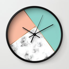 Marble Geometry 056 Wall Clock