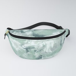 Marble Mist Green Grey Fanny Pack