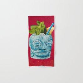 Tiki Drink Tropical Cocktail / Oil Painting Hand & Bath Towel
