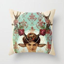 Dear Queen Faun Throw Pillow