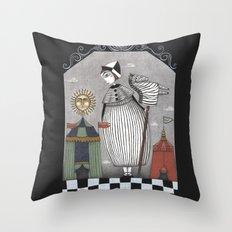 A Circus Story Throw Pillow