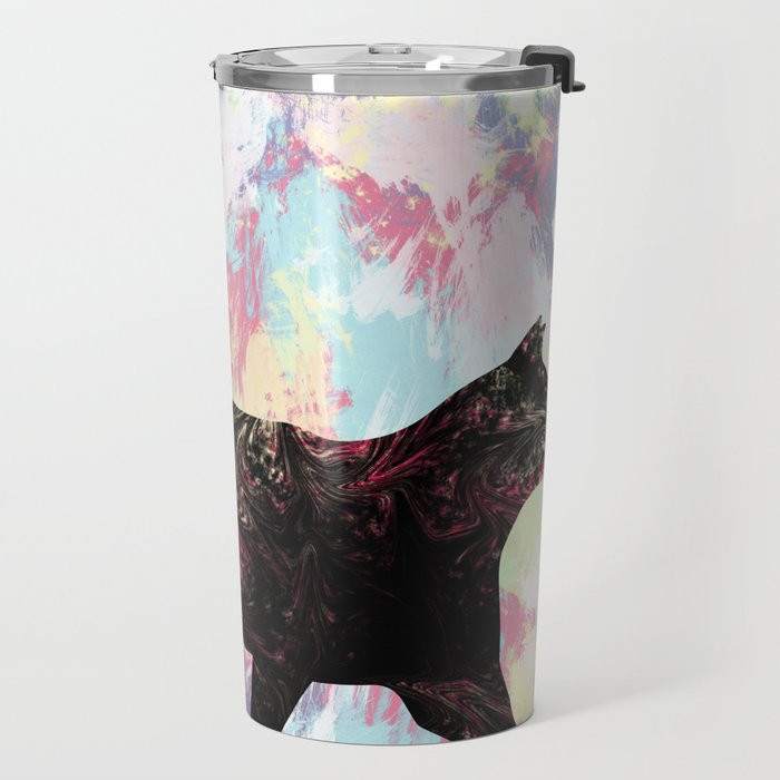 Abstract Cat Travel Mug
