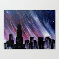 chicago Canvas Prints featuring Chicago by Tesseract