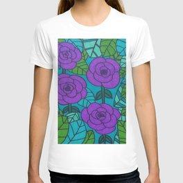 Garden Scene in Cool Tones T-shirt