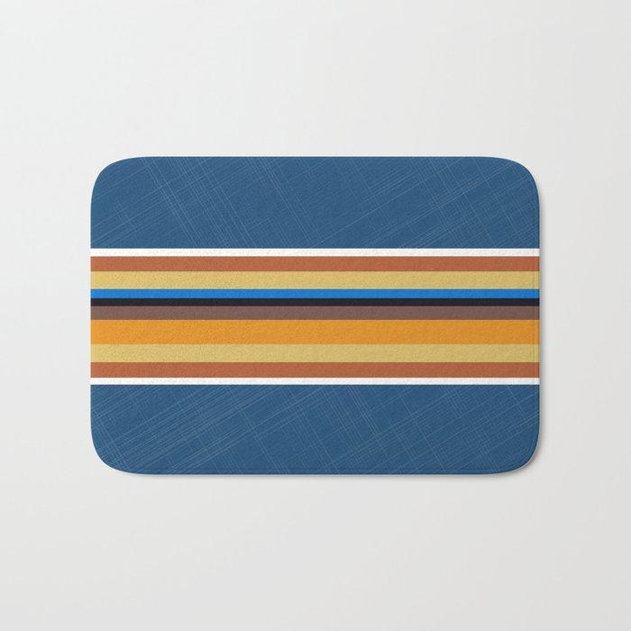Multi Color Striped Print Bath Mat By Carlitov Society6