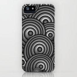 Charcoal Swirls iPhone Case