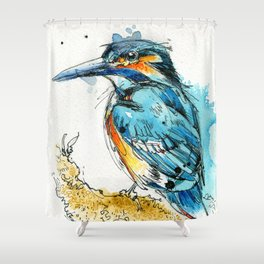 Regal Kingfisher Shower Curtain