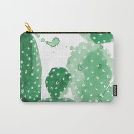Green Paddle Cactus Carry-All Pouch