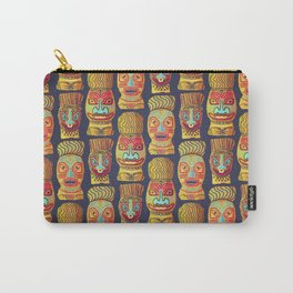 Tiki mask pattern Carry-All Pouch