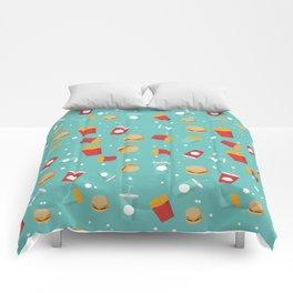 Burgers pattern Comforters