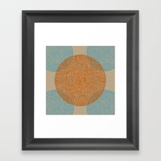 Primitive Circle Pattern Framed Art Print