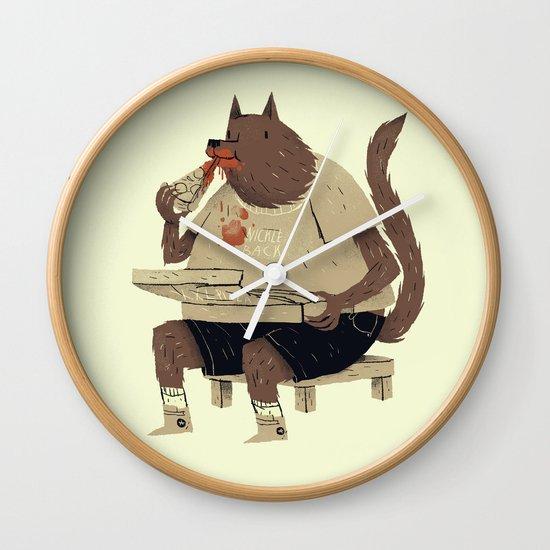 hungry like the wolf Wall Clock