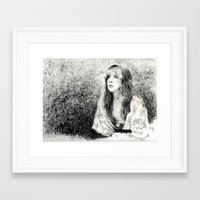 stevie nicks Framed Art Prints featuring Stevie nicks by jgart