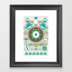 character collage Framed Art Print
