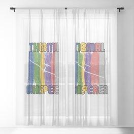 Thermal Whisperer T Shirt Soaring Enthusiast TShirt Glider Pilot Shirt Humour Gift Idea Sheer Curtain