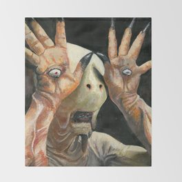 Pale Man Acrylic Painting Throw Blanket