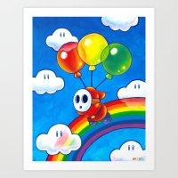 Flight of the Sky Guy Art Print