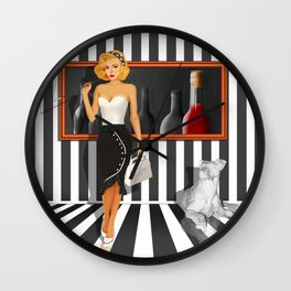 Series: Woman Quartet, No.3 in black and white Wall Clock