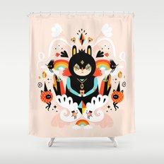 Rainbow Queen Shower Curtain