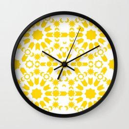 Golden Arabesque Wall Clock