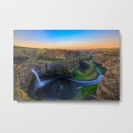 Sunrise of Palouse Falls, WA Metal Print