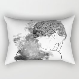 Quiet silence. Rectangular Pillow