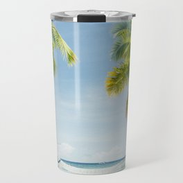 Palm trees, hammock Travel Mug