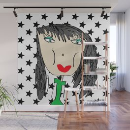 Rock Star Georgina Wall Mural
