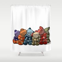 cuddle Shower Curtains featuring Cuddle by Friederike Ablang