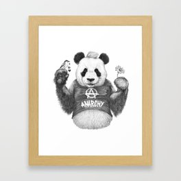 Punk Panda Framed Art Print