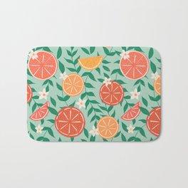 Citrus on Mint Bath Mat