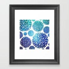 Ocean Flowers Watercolor Framed Art Print