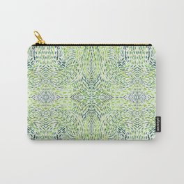 """""""And Then Again, """" in Green Multicolor Carry-All Pouch"""