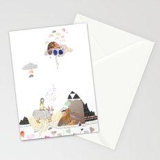 Hermit Crab vs. Snail Stationery Cards
