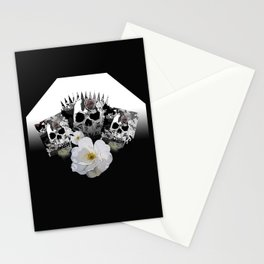 Skulls and Flowers Stationery Cards