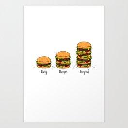 Burger explained. Burg. Burger. Burgest. Art Print